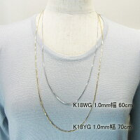 ���饤�ɥԥ�,1.0mm��,�٥ͥ�����,��������,�ͥå��쥹,18��ۥ磻�ȥ������,60cm,K18WG