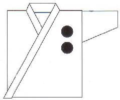 空手衣 左胸刺繍(約3 x 3cm)(1文字300円)【空手着】
