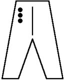 裤腿长刺绣合气道(约2.5 × 2.5厘米)(1个字符200日元)[合気道 股下刺繍(約2.5 x 2.5cm)(1文字200)【合気道着】]