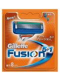 【P&G】【Gillette】ジレット フュージョン5+1 5枚刃専用替刃 8枚入り 【男性用髭剃り】【男性用カミソリ】