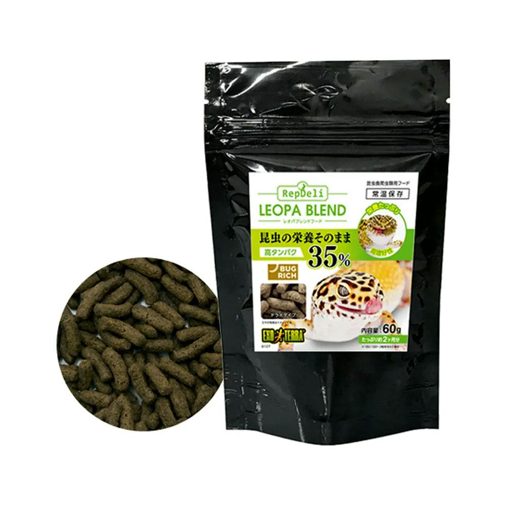 GEX エキゾテラ レオパブレンドフード 60g 関東当日便