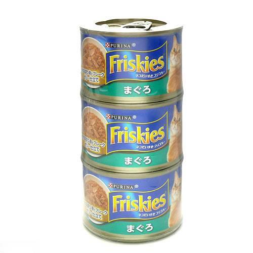 フリスキートール缶青 まぐろ 155g×3P キャットフード 関東当日便