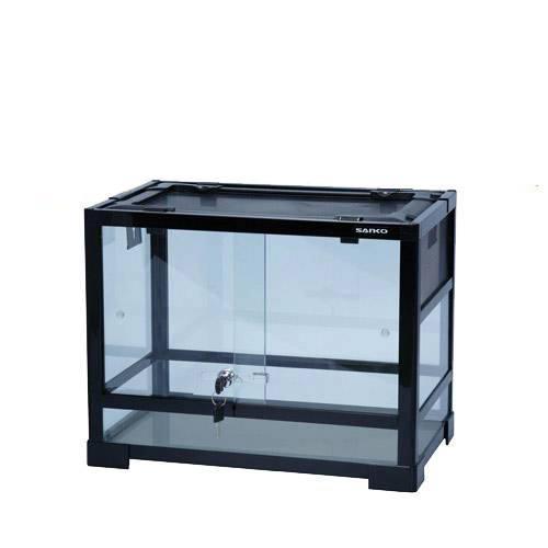 三晃商会 SANKO パンテオン ブラック BK4535(45.5×30.5×35cm) 爬虫類 飼育 ケージ ガラスケージ 関東当日便