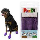 Pawz ラバードッグブーツ L パープル 犬用 ゴム製使い捨てブーツ 靴 くつ 肉球保護 関東当日便