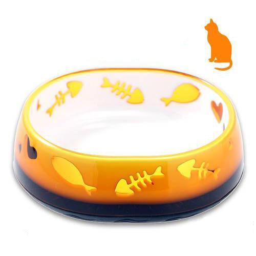 キャティーマン アートジュエリーボウル CAT オレンジ 猫用 食器 フードボウル ドギーマン 関東当日便