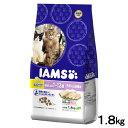 毛玉ケア アイムス 複数飼い猫用 1歳〜12歳 白身魚&チキン味 1.8kg 正規品 キャットフード アイムス IAMS 成猫用 高齢猫用 関東当日便