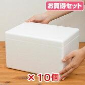発泡スチロール箱(ミニ)TI−56V フタ付き(W30×D21×H18cm) お買い得10個