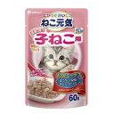 ボール売り ねこ元気 総合栄養食 パウチ健康に育つ子猫用 お魚ミックス 60g お買い得12袋入 関東当日便