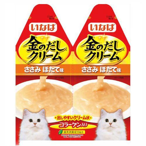 箱売り 金のだしクリーム ささみ ほたて味 60g (30g×2)1箱48袋入り キャットフード 金のだし 関東当日便