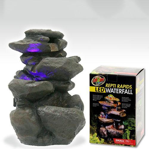 ZOOMED LED ウォーターフォール ロックスタイル SMALL RR−21 爬虫類 レイアウト用品 水入れ 関東当日便