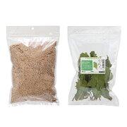 ミルワーム専用 栄養強化セット(ふすま500g+乾燥ちぢみほうれん草10g) 昆虫 ワーム 餌(エサ)