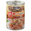 箱売り 愛犬元気 缶 13歳以上用 ビーフ・チキン・野菜 375g お買い得24缶入 関東当日便