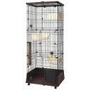 (大型)ペティオ necoco 仔猫からのしつけにもぴったりなキャットルーム 3段タイプ 別途大型手数料 同梱不可 代引不可 petio_chanet