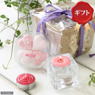 Suitable for small candy candle 2 + block glass + クローバーフィズ set gift specifications, Kanto day flights
