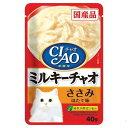 Pet Food, Supplies - いなば CIAO(チャオ) ミルキーチャオ ささみ ほたて味 40g 国産 6袋【HLS_DU】 関東当日便