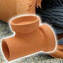 隠れ家土管T字管LL内径110mm大型シェルター水槽用オブジ
