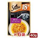 シーバ アミューズ 18歳以上 贅沢シーフードスープ 蟹かま、サーモン添え 40g 6袋入り 関東当日便