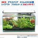 お一人様5点限り GEX グラステリア スリム450 レイアウトフルセットA(ネオンテトラ)水槽セット 本州・四国限定