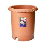 バラ鉢 ブラウン 12号 φ36×36cm 関東当日便