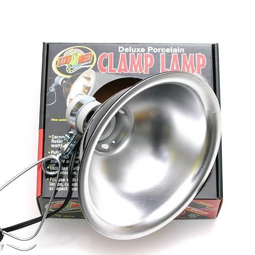 ZOOMED クランプランプソケット 8.5インチ 爬虫類 ライト 照明 保温球 UV球 クリップスタンド 関東当日便