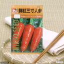 野菜の種 鮮紅三寸人参 品番:2332 家庭菜園 関東当日便