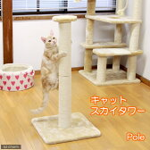 キャットスカイタワーPole アイボリー(W40×D40×H83cm) 猫 爪とぎ ポール キャットタワー おもちゃ 関東当日便