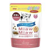 ミャウミャウ カリカリ小粒タイプ ミドル ささみ味 580g キャットフード 関東当日便