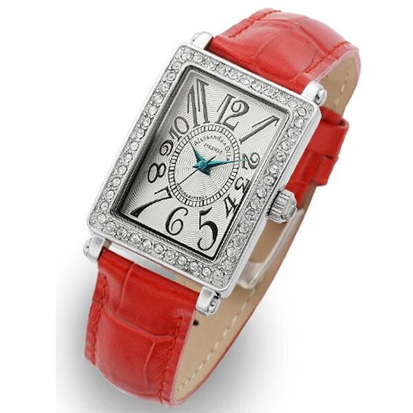Alessandra Olla アレッサンドラオーラ 腕時計 AO-1500-1RE レディース スワロフスキー【セール sale】【記念日】【ギフト】【ビジネス】【誕生日】 アレサンドラオーラ 時計【楽ギフ_包装】