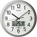 リズム時計 4FN405SR19 電波 掛時計 プログラムカレンダー405SR