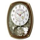 【正規品】RHYTHM リズム時計 クロック 4MN540MB13 CITIZEN シチズン 電波掛時計 ハローキティM540