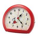 【正規品】RHYTHM リズム時計 クロック CITIZEN シチズン 4SE562MT01 目覚まし時計 ムーミン リトルミイ めざましとけいR562