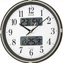【正規品】リズム時計 クロック CITIZEN シチズン 4FYA07SR06 掛時計 電波時計 フィットウェーブリブ