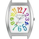 ショッピング掛け時計 【正規品】フランク三浦 FRANK三浦 クロック FM08K-CRW 掛時計 レインボーホワイト 八号機