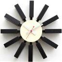 時計 GEORGE NELSON BLOCK CLOCK ジョージネルソン ブロッククロック ブラック ブラウン ナチュラル ブルー ジョージ・ネルソン 家具 デザイナーズ 太陽 壁 掛け おしゃれ かわいい ウッド カラフル 北欧 手土産 バレンタイン 10P03Dec16
