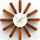 時計 GEORGE NELSON BLOCK CLOCK ジョージネルソン ブロッククロック ブラック ブラウン ナチュラル ブルー ジョージ・ネルソン 家具 デザイナーズ 太陽 壁 掛け おしゃれ かわいい ウッド カラフル 北欧 手土産 ハロウィン 10P01Oct16