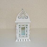 キャンドルランタン【LIGHT HOUS】ライトハウス 白キャンドルホルダー テーブルランプの画像