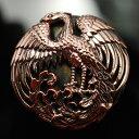コンチョ 和柄 和風ボタン 鳳凰コンチョ カッパー(銅)× ブラス(真鍮)国産高級スクリュー使用