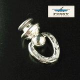 【売れ筋】FUNNY [ファニー] 社製 Silver925 手彫りエングレーブ ウォレットドロップハンドル ジョイントパーツ FUNNY 財布 (ファニー) ウォレット メンズ 用【送料無料】
