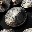楽天CHAOS Accessoryコンチョ/コインコンチョ 【シルバーコンチョ】 本物 50セントコイン銀貨コンチョ 年号を選べる1934〜1947 ウォーキングリバティー 《イーグル》 《メール便可》 【レザーワークス カオス】【売れ筋】