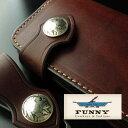 ファニー 財布 ウォレット  FUNNY ファニー ブライドルレザー 5セントコイン コンチョ ブラウン 05P03Sep16