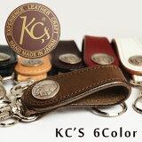 KC''s ケイシイズ ケーシーズ 牛革製 本革 フラップループ キーホルダー ベルトループ キーリング 5セントコイン コンチョ [ ウォレット 財布 長財布 ウォレットチェーン