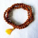 ◆【ルドラクシャ(菩提樹の実)マーラー 中】インド 菩提樹 シヴァ 礼拝 瞑想