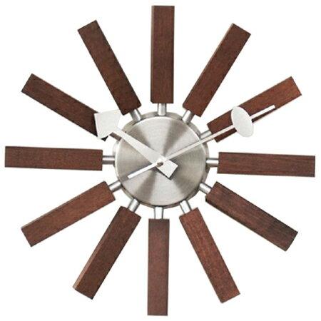 ジョージネルソン 掛け時計 時計 インスパイアクロック ブロッククロック ウォールナット ネルソンクロック 掛時計 壁掛け時計 おしゃれ かっこいい 正規品