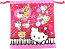 ハローキティローズピンク巾着M 06215-1