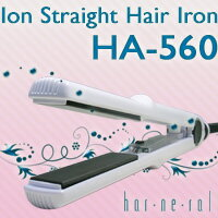 ハーネラル n-ion & ceramic hair straightener HA-560