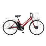 【無料】Panasonic BE-EKAT63 ビビチャージ・AT 26インチ 内装3段 電動自転車 カンパリレッド [BE-EKAT63R] カテゴリ:Panasonic 電動自転車 シティ 26インチ以上 レッド系