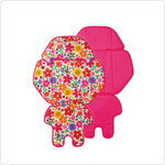 It is car seat cover tropical flower X pink after Panasonic NCD360K ギュット ギュットミニ use