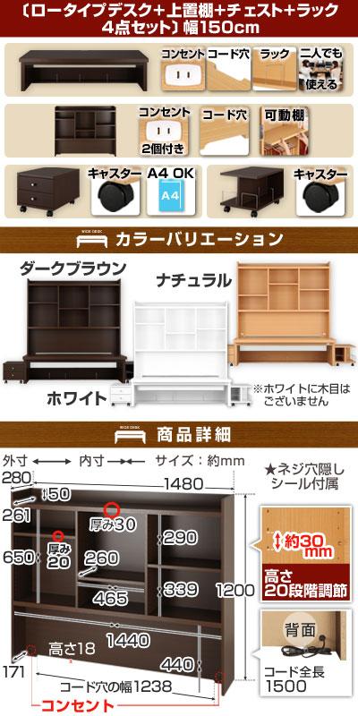 \クーポンで1,000円引き/ PCデスク 木...の紹介画像2