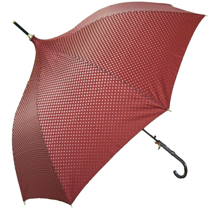 傘【ドット&パゴダ型傘】婦人 長傘 雨傘【パゴ...の紹介画像3