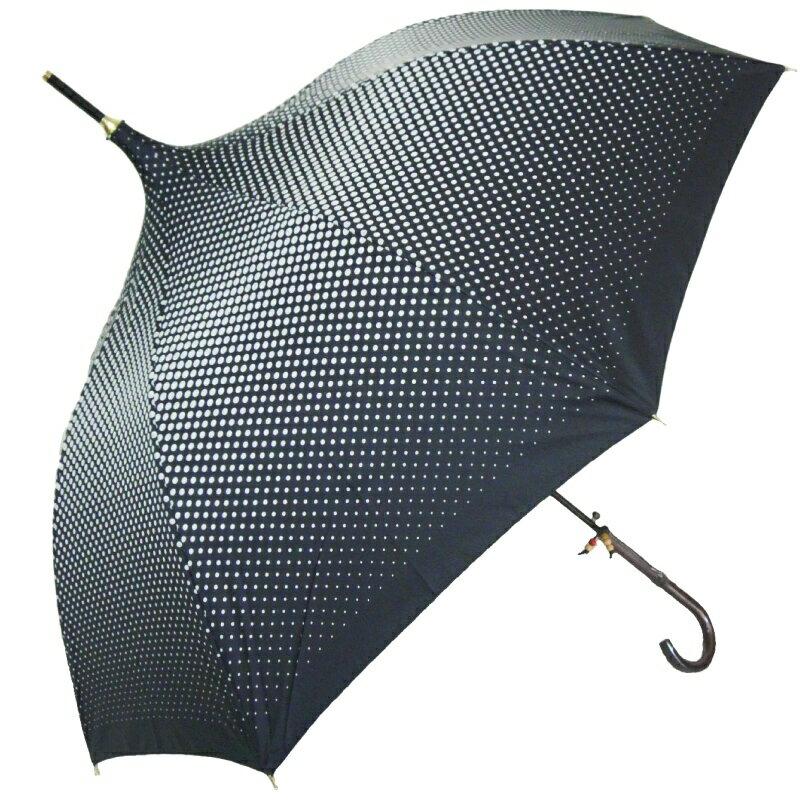 傘【ドット&パゴダ型傘】婦人 長傘 雨傘【パゴ...の紹介画像2